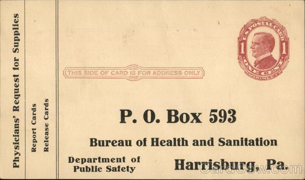 Bureau of Health and Sanitation Harrisburg Pennsylvania