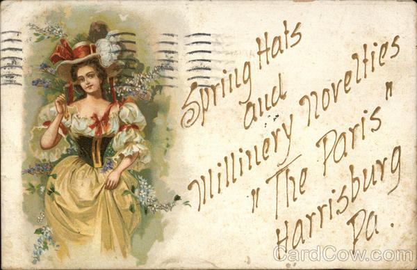 The Paris Millinery Harrisburg Pennsylvania Advertising