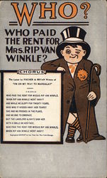 Who Paid the Rend for Mrs. Rip Van Winkle? Postcard