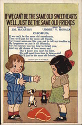 If we can't be the same old Sweethearts - McCarthy - Monaca 1915 Postcard