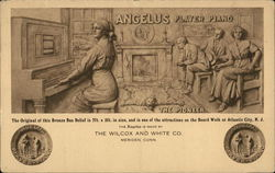 Angelus Player Piano Postcard