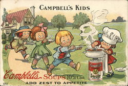 Campbell's Kids - Campbell's Soups 10c a can - Add zest to Appetite