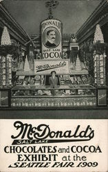 McDonald's Chocolates and Cocoa Exhibit at the Seattle Fair 1909