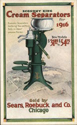 Sears, Roebuck and Co. - Economy King Cream Separators for 1916 Postcard