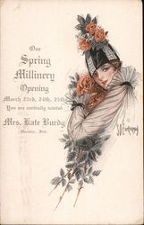 Mrs. Kate Burdy-Spring Millinery Opening