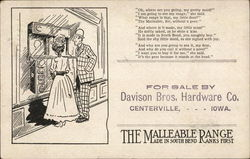 The Malleable Range - for sales by Davison Bros, Hardware Co.