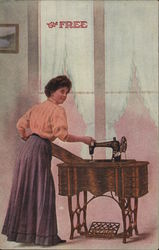 The Free Sewing Machine Company Postcard
