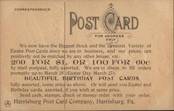 Harrisburg Post Card Company - A Joyful Easter