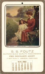 S.S. Foutz Fire Insurance - May Queen Calendar 1911