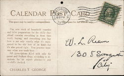 Charles T. George - Druggist - Calendar October 1910