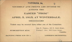 Easter Prom April 5, 1915 at Winterdale
