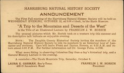 Harrisburg Natural History Society Announcement