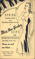 Miss New Yorker Slips and Underthings, Capitol Lingerie Shop