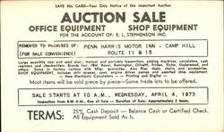 Auction Sale for the Account of R.L. Stephenson Inc.