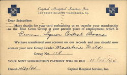 Capital Hospital Services, Inc. Postcard