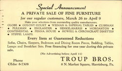 A Private Sale of Fine Furniture, Troup Bros.