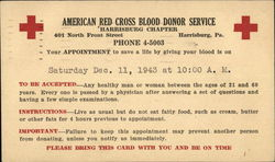 American Red Cross Blood Donor Service, Harrisburg Chapter