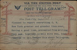 Private Mailing card - Post Tell-Gram