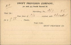 Swift Provision Company Receipt