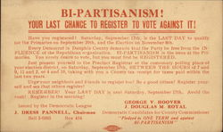 Bi-Partisanism! Your Last Chance to Register to Vote Against it!