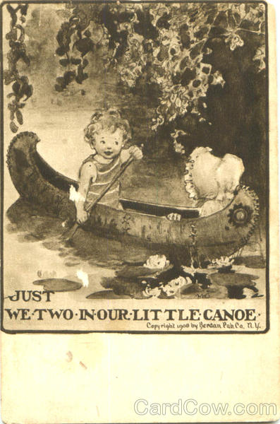 Just We Two In Our Little Canoe Children Canoes & Rowboats