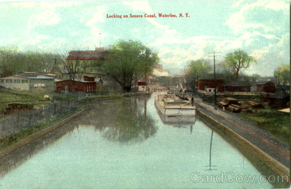 Locking On Seneca Canal Waterloo New York