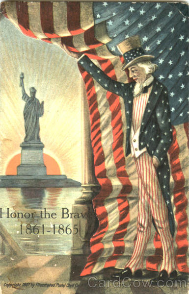 Uncle Sam Honor The Brave 1861-1865 Patriotic
