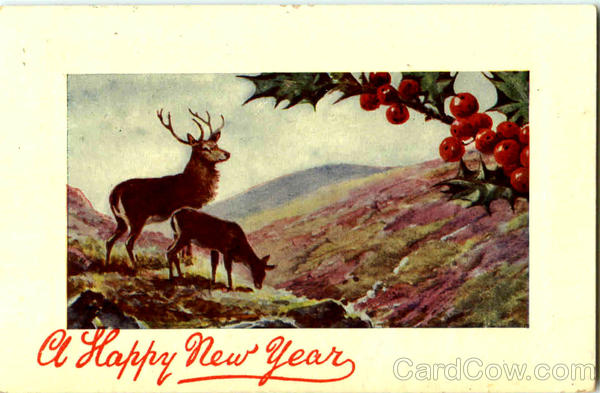 A Happy New Year Deer