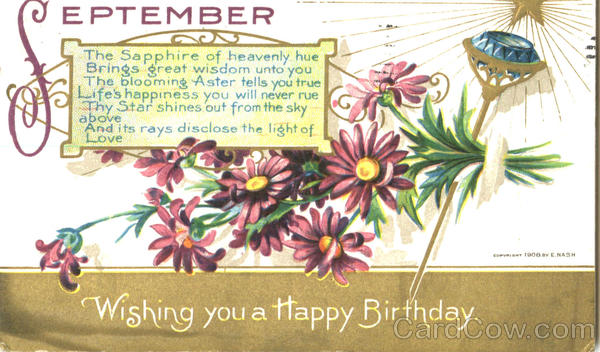 Wishing You A Happy Birthday September
