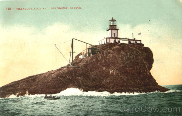 Tillamook Rock And Lighthouse Scenic Oregon Lighthouses