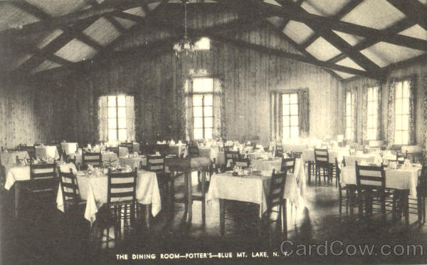The Dining Room Potter's Blue Mt. Lake New York
