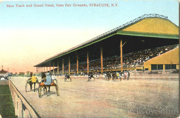 Race Track And Grand Stand, State Fair Grounds Syracuse New York