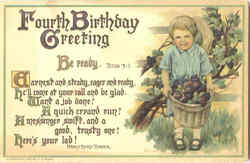 Fourth Birthday Greeting Be Ready