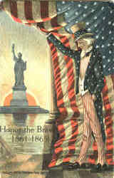 Uncle Sam Honor The Brave 1861-1865 Postcard