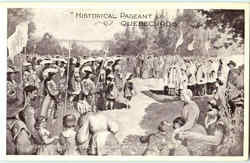 Historical Pageant Postcard