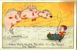 Fishing Postcard