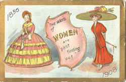 The Ways Of Women Are Past Finding Out Postcard