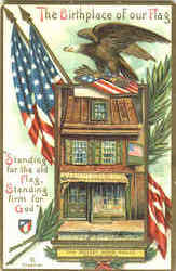 The Betsey Ross House Postcard