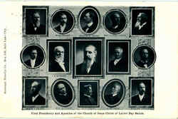 First Presidency And Apostles Of The Church Of Jesus Christ Of Latter Day Saints Postcard