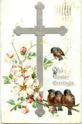Grad Easter Greetings Postcard