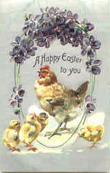 A Happy Easter To You Postcard