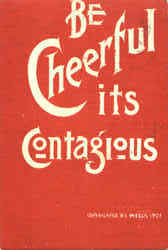 Be Cheerful Its Contagious