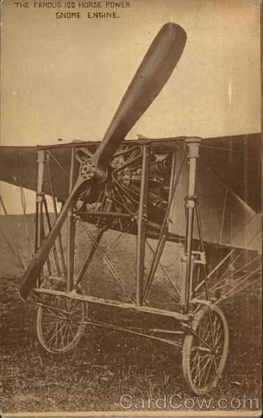 The famous 100 horse power Gnome engine Aircraft
