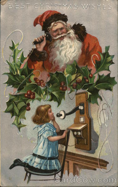 Phoning Santa Claus Christmas