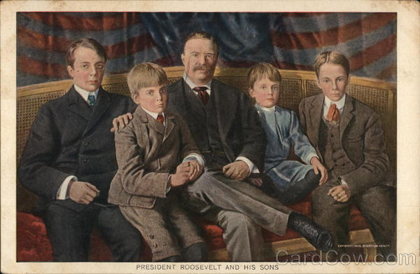 President Roosevelt and his sons Arthur Hewitt Theodore Roosevelt
