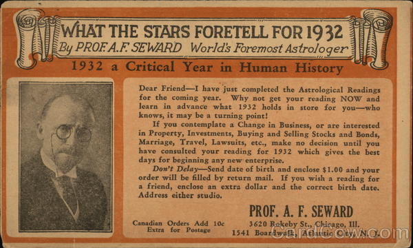 What the Stars Foretell for 1932 by Prof. A.F. Seward