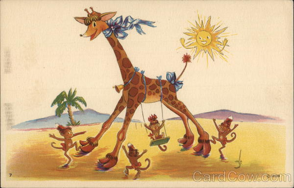 Giraffe Painting - Stanford Convalescent Home Playroom