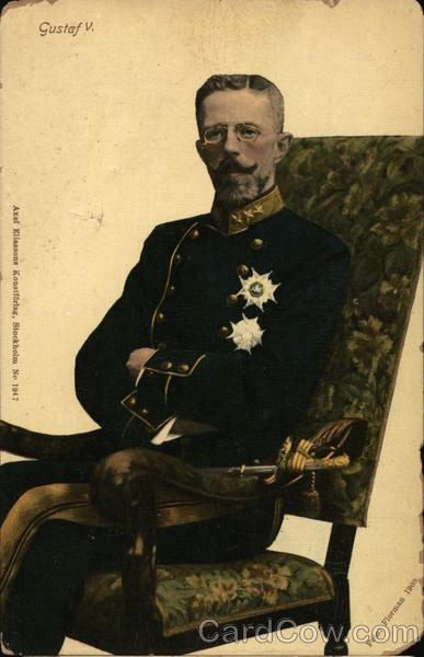Portrait of Gustaf V Royalty