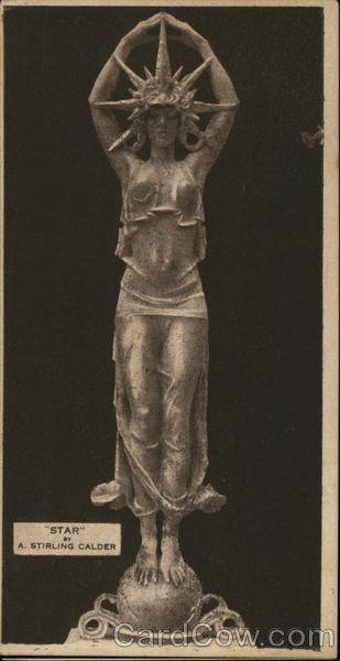 Scantily Clad Woman With Starpoint Headdress Statue