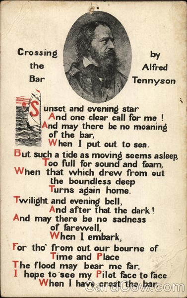 crossing the bar by alfred tennyson